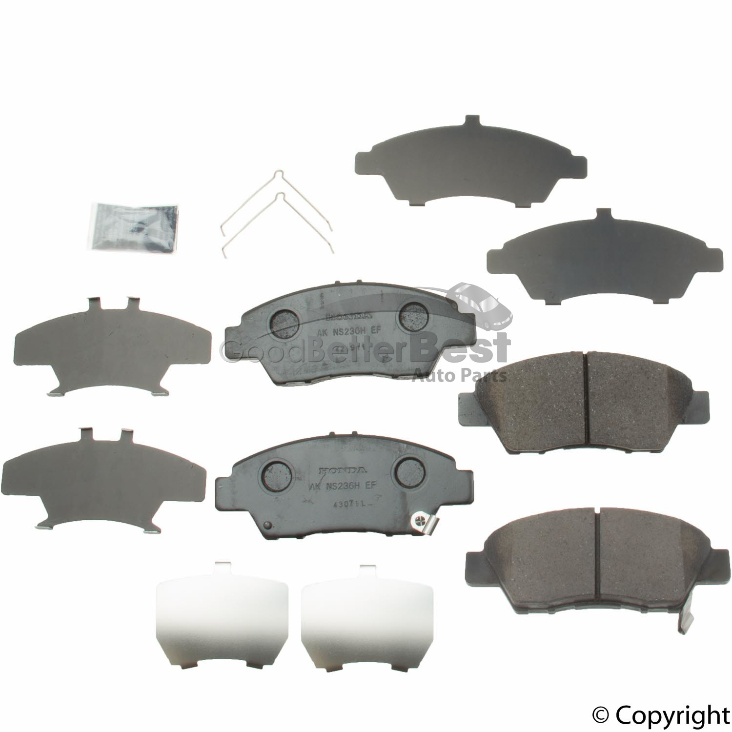 Details about New Genuine Disc Brake Pad Set Front 45022TK6A01 45022TK6A00  for Honda CR-Z Fit