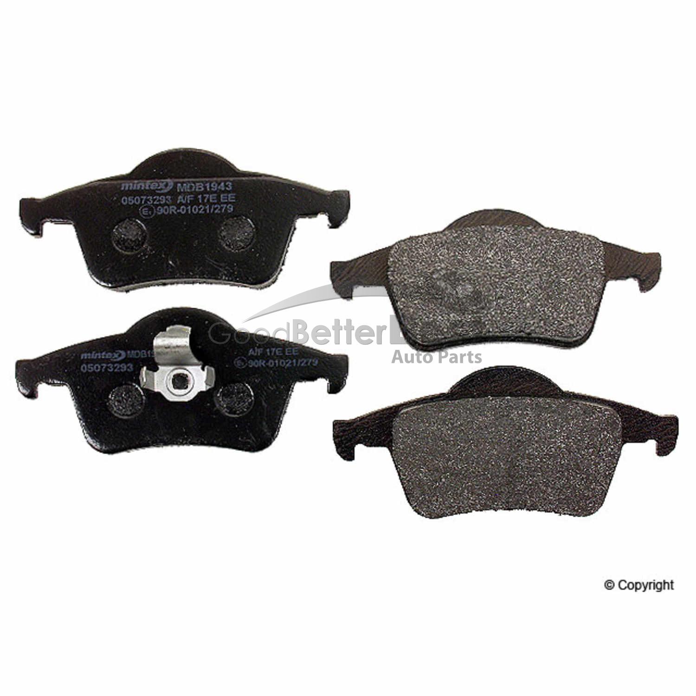 MDB1943 MINTEX Brake Pad Set disc brake rear