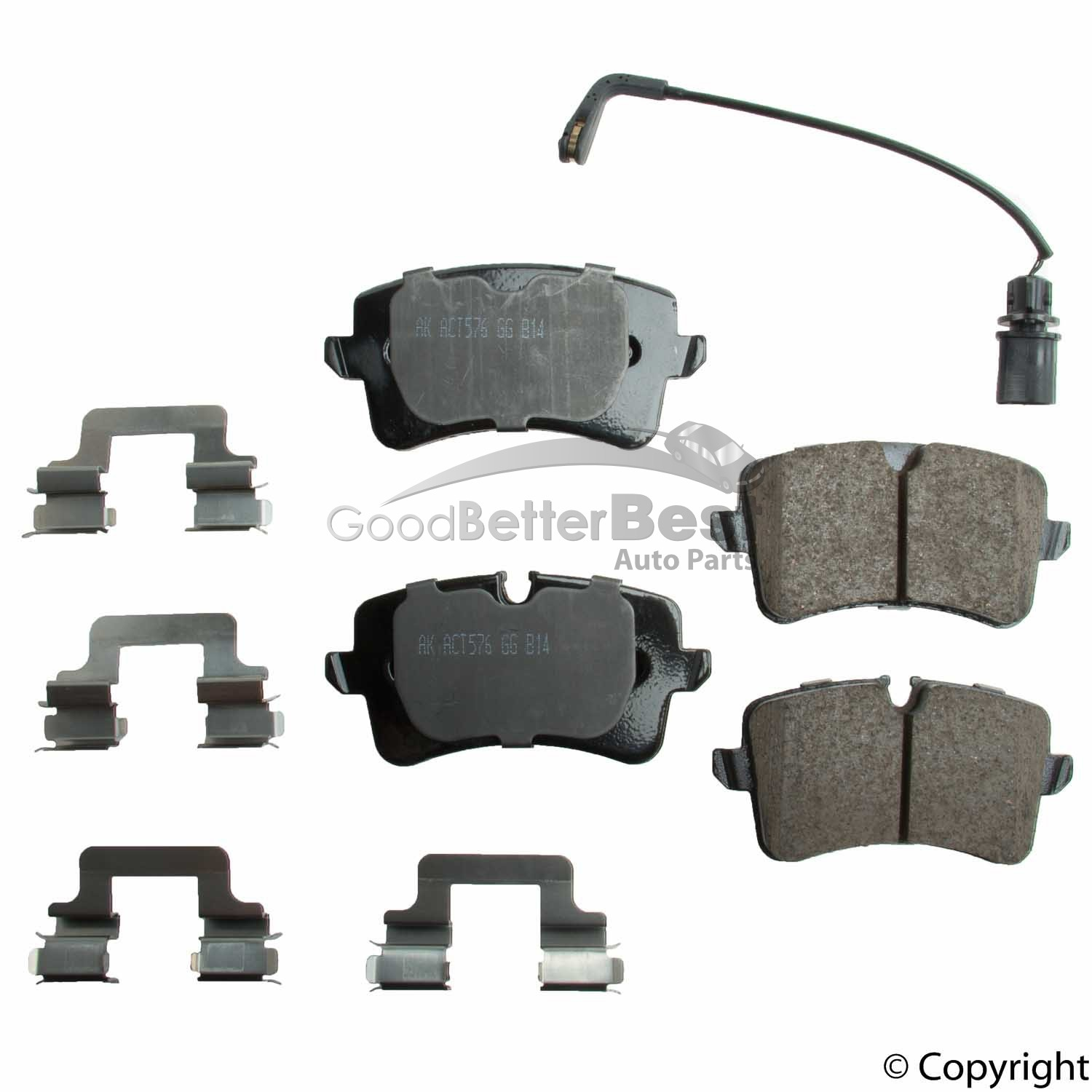 Disc Brake Pad Set-Euro Ultra Premium Ceramic Pads Rear Akebono EUR763
